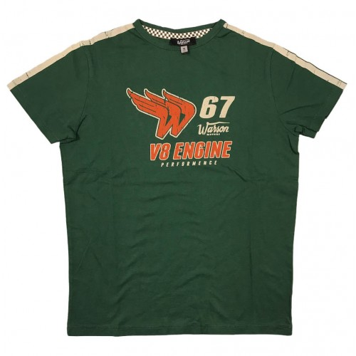 T-Shirt V8 Engine Green