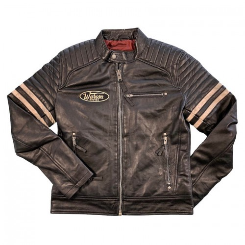 Bonneville leather Jacket black