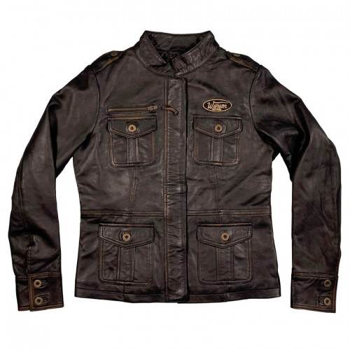 Spitfire leather jacket brown rub off