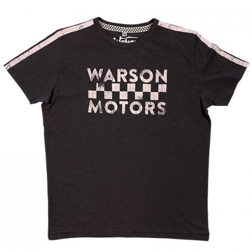 T-shirt checkered flag carbone