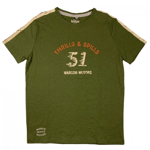 T-shirt thrills and spills olive