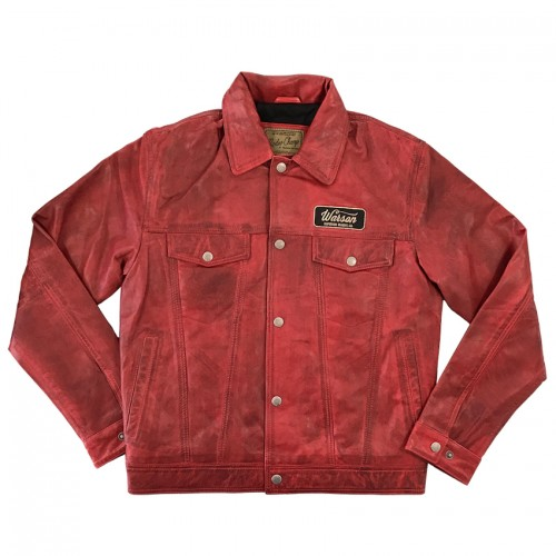 Western Button Jacket Sheep Red