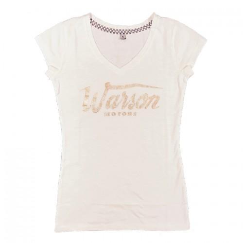Basic Gold V-Tee White