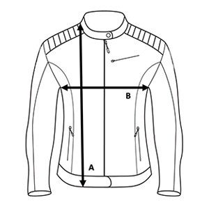 Winter lady aviator jacket - Size Chart