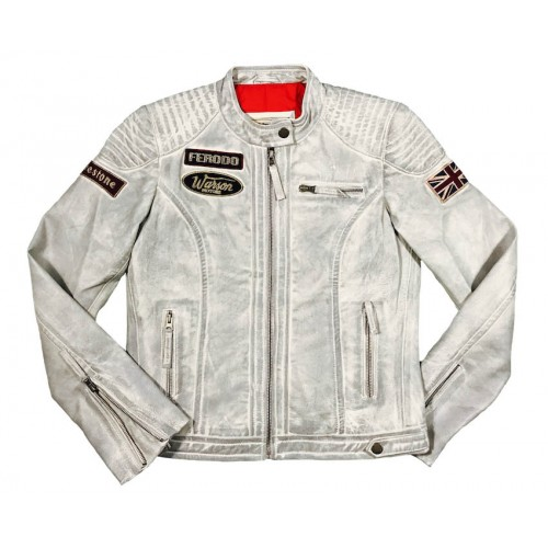 Grand-Prix Leather Woman Jacket Smoke Grey