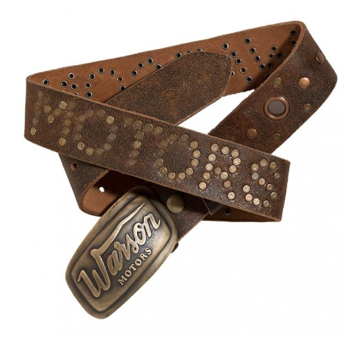Belt Suede Square Brun Crackle