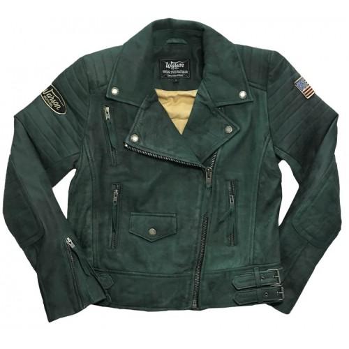 Blouson Leather Women Green