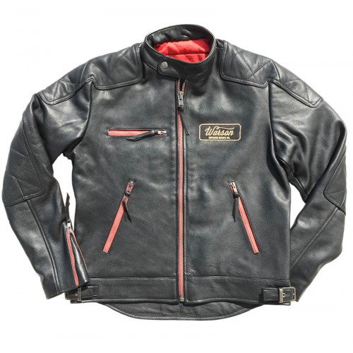 Motocycle Leather Black and Red