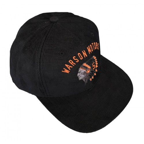 Indian Snap Black and Orange Cap