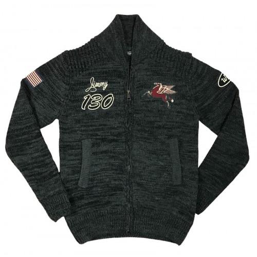 Knit Track Jacket Carbone