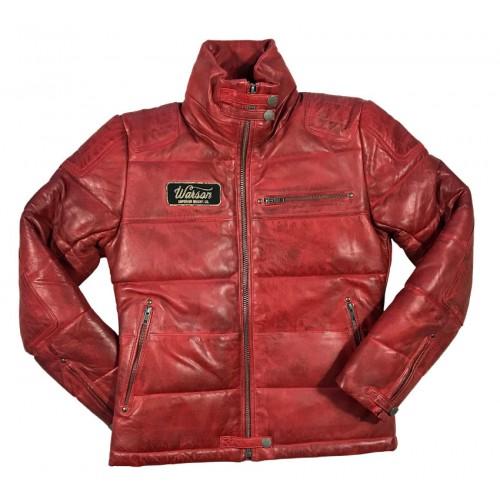 Biker Down Jacket Sheep Red Women