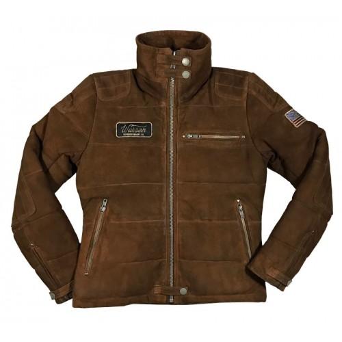 Biker Down Jacket Goat Brown