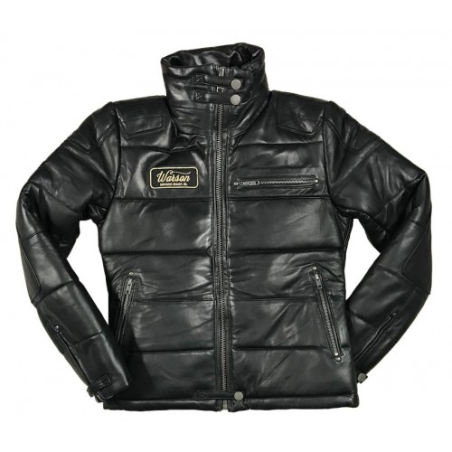 Biker Down Jacket Sheep Black Women