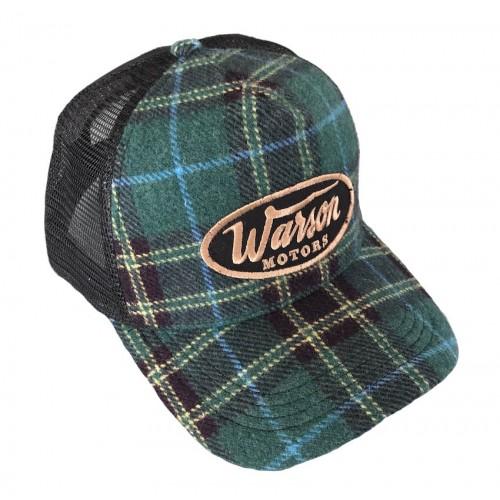 Flannel check cap green